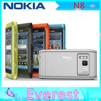 "Original Nokia N8 3G WIFI GPS 12MP Touchscreen 3.5"" Unlocked Mobile Phone 16GB Internal  free shipping"