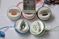 New Charger Station Stand Holder Date Sync Dock Cradle for Apple iPhone 4 4G 4S 3G 3GS  High Quality Free Shipping By DHL