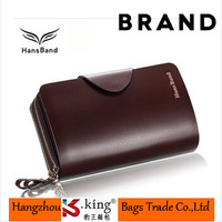 B.King Famous Brand Genuine Leather Men Business Clutch Wallets With Double Zipper  High Quality Hasp Wallet Handbag , MHB009