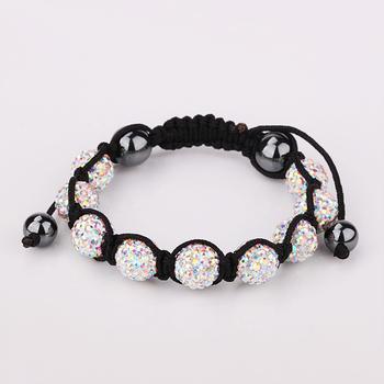 SBB118 holesale !10MM Handmade Disco Ball Beads Men Gift Crystal Shamballa Bracelet Fashion jewelry charm Bracelet