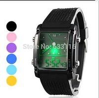 drop shipping 1pcs retail high quality brand logo men women ladies Candy colors silicone quartz gifts watch