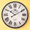 relogio parede Europe& Mediterranean decorative vintage retro large wood Wall art clock metal frame roman number face 34cm 60cm