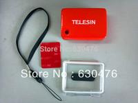 Free Shipping TELESIN Float + Waterproof Backdoor Case Cover+3M Adhesive stick for GoPro HD Hero Hero2 Hero3 AS-15 AEE Camera