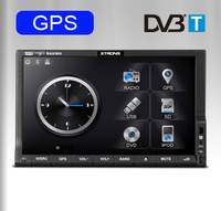 "7"" Double 2Din Car GPS DVD Player with built-in DVB-T (MPEG-4) Digital TV Tunver Radio RDS Bluetooth Ipod Steering Microphone"