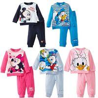 New Design25 set Cotton long-sleeve autumn Baby Clothes Sets, MINNIE mickey girl/boy clothing, sport Children's set