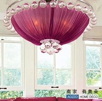 Crystal absorb dome light rural contracted sitting room bedroom lamp light restaurant dining room light purple CL10042/4