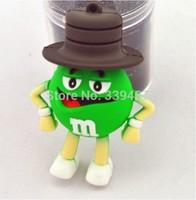 Wholesale and custom chocolate M amuse usb flash drive2.0   4G/8G/16G/32G pen drive memory card