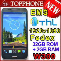 New THL W300 Quad Core MTK6589T Phone 1.5GHz 2G RAM 32G ROM Dual Camera 13.0MP 6.5'' FHD 1920x1080 Android 4.2 Dual SIM