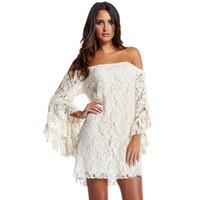 2014 New Fashion Cream Lace Mini Dress Lady Cocktail Prom Clubwear White/Black Free Shipping Cheap Price