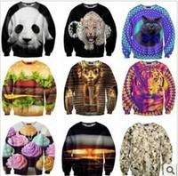(dan)2014 Real Sale Autumn-summer Sweatshirt Women,tide Card 3d Women's Hoodies Retail Or Wholesale 28 Model Size S- M-l-xl