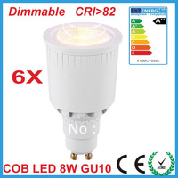 Free Shipping 2013 Hot sale dimmable gu 10  8w cob led spotlight 2700k 3000k led bubs led down lights household lighting