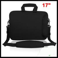 """Black 17"""" 17.3"""" 17.4"""" Notebook Laptop Shoulder Bag Carrying Case  Handle"""