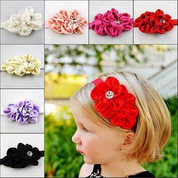 Super Deal Best quality Baby Girl Hair Band Infant Toddler Flower Diamond Headband Headwear