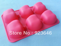 free shipping  factory wholesale 6Even apple shape silicone bakeware fruit pie salad