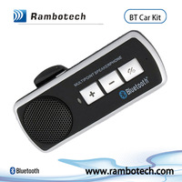 V4.0 multipoint bluetooth handsfree car kit, sun visor long work time voice dialing car kit, wireless music play speakerphone