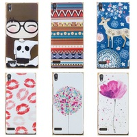 Hard plastic Cartoon Cute Girl Cross Flower Kitty Flag Pattern Case for HUAWEI Ascend  P6 Phone Case