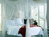 FREE SHIPPING BED CANOPY 4 CORNER 190*240 *210 BUG INSECT MOSQUITO NET FLY NETTING MESH BEDS CANAPY BEDROOM CURTAIN bed netting
