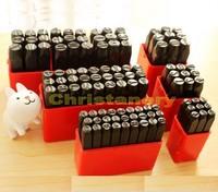 4MM Steel Punch Stamp Die Set Metal 36 Pcs Numbers & Letters in Plastic
