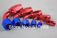 AN4 Alloy Aluminum Oil / Fuel Adaptor AN Fitting Straight 90 Degree Reusable Swivel Hose End