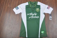 new Free Shipping top thailand quality 2014 13 14 Portland Timbers thorns FC home Soccer  Jersey  Soccer Shirt.