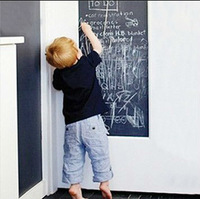 Vinyl 6.5 ft x 1.5 ft Chalkboard Wall Stickers Removable Blackboard Decals Great Gift for Kids with 5 Free Chalks