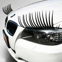 Refires funny car stickers car sticker false eyelashes