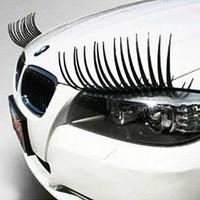 Refires funny car stickers car sticker false eyelashes