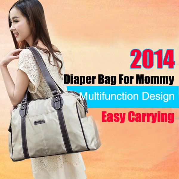 2013 Hot Sale Free Shipping Nylon Durable Fashion Nappy Bag Diaper Bag For Baby And Mommy Multifunction Layer(China (Mainland))