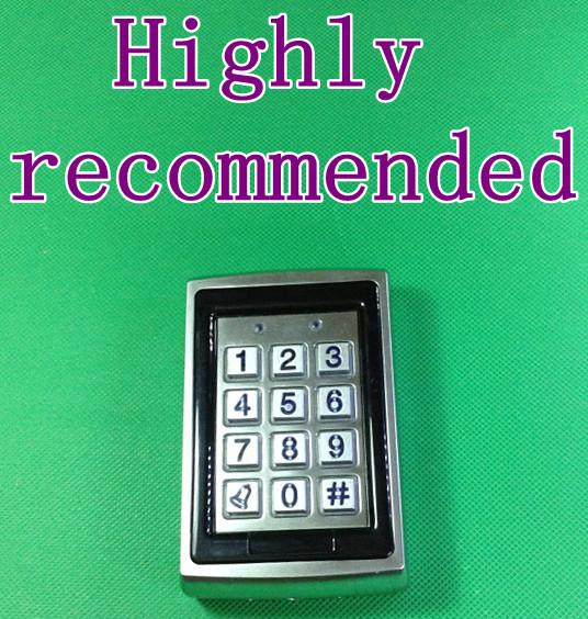 Waterproof Metal Smart RFID Card Reader, Background light Keypad Access Control System,RFID Proximity Card Reader(China (Mainland))
