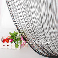 Black Tassel Fringe Hanging String Partition Divider 100x197cm Wall Door Curtain  Free Shipping