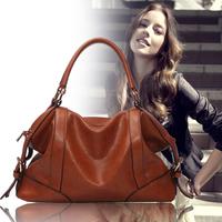 Women Genuine Leather Hot The Female Leather Bag New Women Bags 2014 Women Messenger Bag Vintage Handbag Designer Retro Q6
