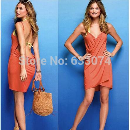 2014 new women's pareo summer dress ,beach wear cover ups dress,swimwear swimming dress(China (Mainland))