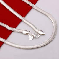 LKNSPCN193 // Wholesale Factory Price The snake Necklace , hot sale fashion 925 jewelry Chain silver plated Romantic Necklace