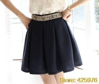 Free Shipping vestidos new 2013 fashion saias chiffon shorts skirt women summer supernova sale pearl beading high waist skort