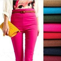 New Arrival Women Elastic Slim Leggings High Waist Flexible Pencil Pants With Good Quality Lady Trousers Wl001