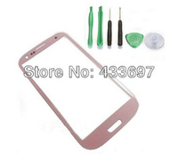 New Replacement LCD Screen Glass Lens Cover For Samsung Galaxy S3 i9300 Mobile Phone LCD screen Lens +Free tools free shipping
