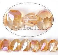Free shipping!!!Imitation  Element Crystal Beads,Luxury, imitation  crystal & machine faceted, Fire Opal, 13x10x9mm