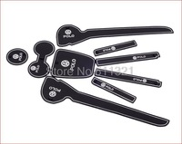 2011-2014 New volkswagen Polo Gate Slot Pad,door slot cunshion,tank gasket,noctilucent cup mat/pad,9pcs/set