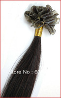 wholesale straight #1 Jet Black color Italian keratin Nail tip /U-tip Human Hair extension 20 inches 50cm 0.5g/s 100s/pack  50g