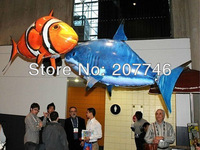 High Quality  RC Remote Control Air Flying Fish Shark/ Clownfish Inflatable Toy Swimming Fish In The Air