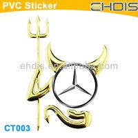 devil car logo stickers  car decorative sticker pvc decal  funny sticker for car 3d car decal stickers