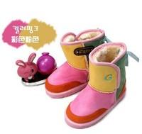 Winter Children boots girls Boys boots  fashion kids boots Plush Fur child snow boots warm cotton princess girls shoes