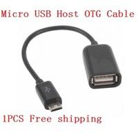 New Arrival 1PCS/LOT  OTG USB Data Line for Google Nexus 7 Samsung i9220 i9300 N7100 Original Chip Plug Adapter Cable