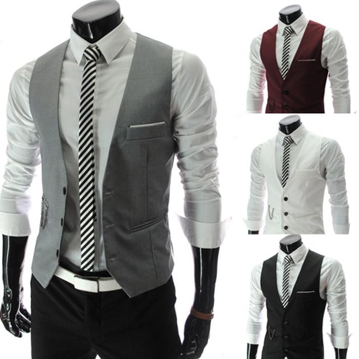 Free shipping2013 new gentle men vest men s formal suit v necked vest