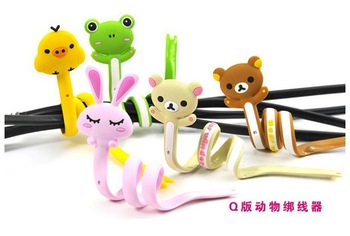 free shipping hot sale South Korean creative cute cartoon animals strip coil winder cable hub tie line editor Richard line
