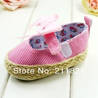 SanFu--NE012  baby girl shoes first walkers shoes home and toddler pink cotton shoes size 2 3  4 in US free shipping