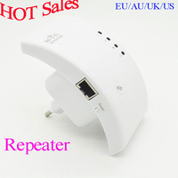 2014 Wireless-N Wifi Repeater 802.11N/B/G WPS Network Router Range Expander 300M 2dBi Antennas Signal Boosters Free Shipping