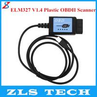 USB ELM327 V1.4 Plastic OBDII EOBD CANBUS Scanner with FT232RL Chip Free Shipping