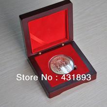 DHL/FEDEX Free shipping 100pcs/lot red & polishing wooden coin's box, No Logo+ Accept custom logo + customs box(China (Mainland))