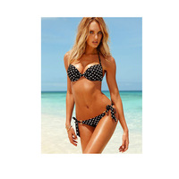 2014 Sexy Ladies Dot Pattern Bathing Monokini Swimsuit Swimwear Separate Bikini Set For Women Beachwear Free Shipping!